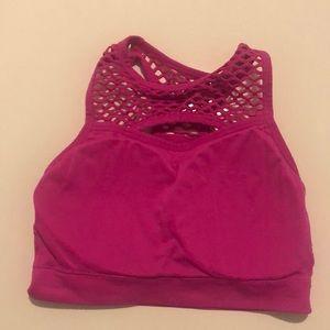 Spalding sport bra top pink push up S